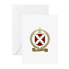 HERTEL Family Crest Greeting Cards (Pk of 10)