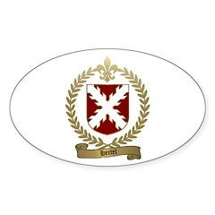 HERTEL Family Crest Oval Decal