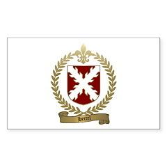 HERTEL Family Crest Rectangle Decal