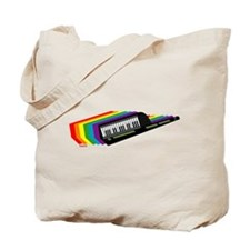 Rainbow Keytar Tote Bag
