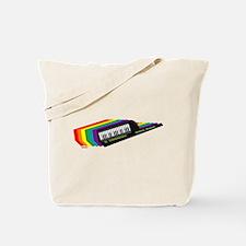 Rainbow Keytar Tote Bag