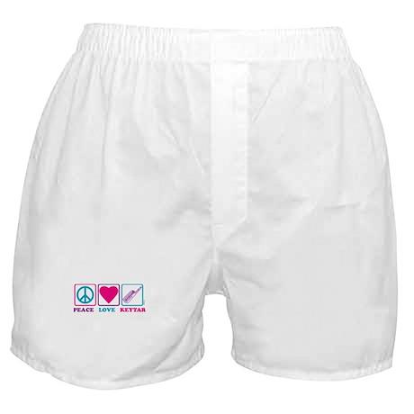 Peace Love Keytar Boxer Shorts