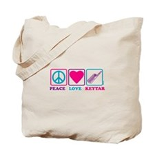 Peace Love Keytar Tote Bag