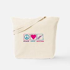 Peace Love Keytar Tote Bag
