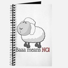 Baaa means NO! Journal