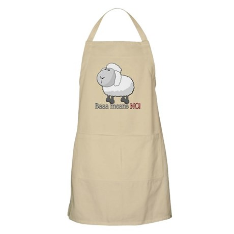 Baaa means NO! BBQ Apron
