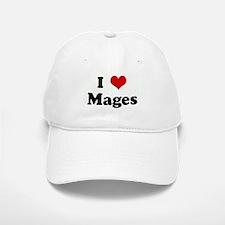 I Love Mages Baseball Baseball Cap