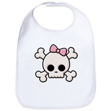 Cute Skull Girl Bib