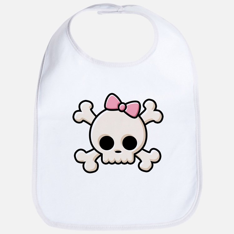 Cute Skull Girl Bib