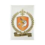 HOUSSEAU Family Crest Rectangle Magnet