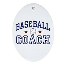 Baseball Coach Oval Ornament