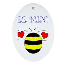 BEE MINE Oval Ornament