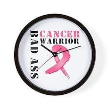 BadAss BreastCancerWarrior Wall Clock