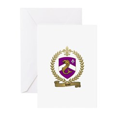 HUOT Family Crest Greeting Cards (Pk of 10)