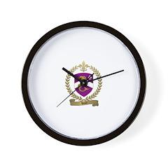 HUOT Family Crest Wall Clock
