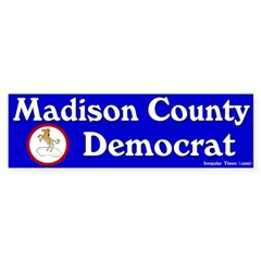 Madison County Democrat Bumper Bumper Sticker