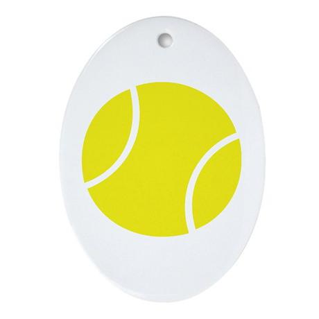 tennis ball Oval Ornament