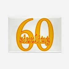 Sizzling 60 B-day Rectangle Magnet