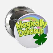 "Magically Delicious Pastel Rainbow 2.25"" Button"