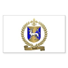 HURET Family Crest Rectangle Decal