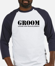 Groom Under New Management Baseball Jersey