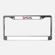 I Love Hearts Possums License Plate Frame