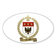 JEANSON Family Crest Oval Decal