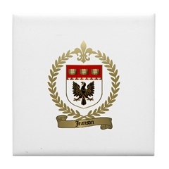 JEANSON Family Crest Tile Coaster