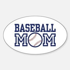 Baseball Mom Oval Decal
