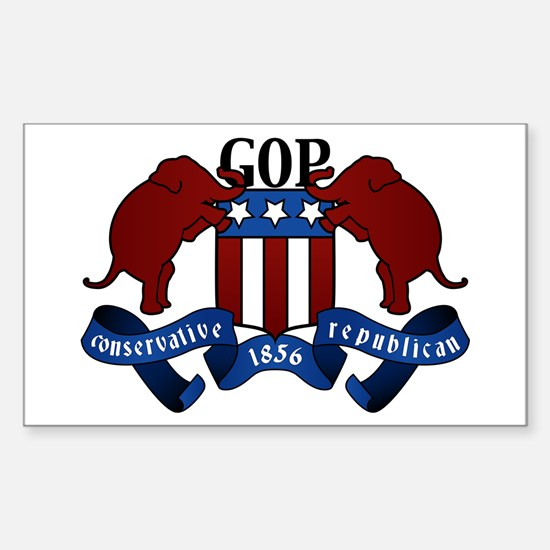 GOP Coat of Arms Rectangle Decal
