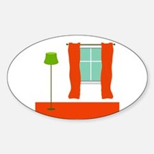 Carpet/Drapes Redhead Oval Decal