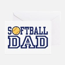 Softball Dad Greeting Cards (Pk of 10)