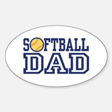 Softball Dad Oval Decal