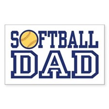 Softball Dad Rectangle Decal