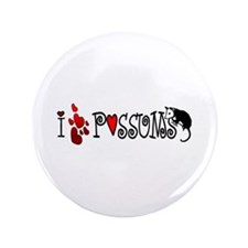"""I Love Hearts Possums 3.5"""" Button"""