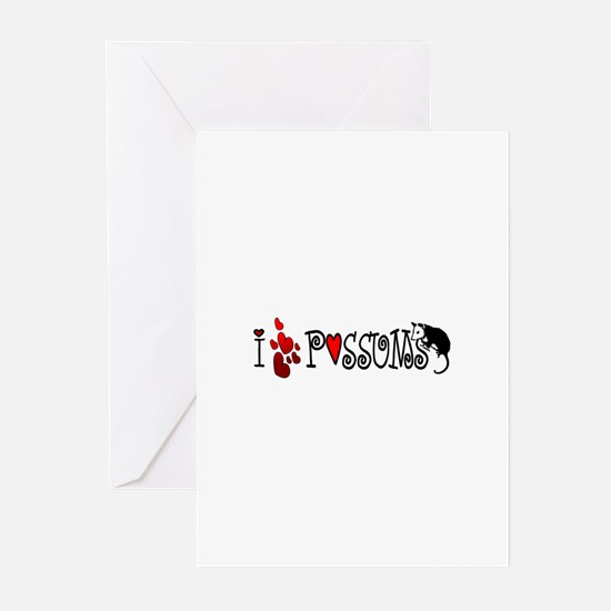 I Love Hearts Possums Greeting Cards (Pk of 10)