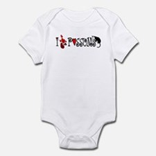 I Love Hearts Possums Infant Bodysuit