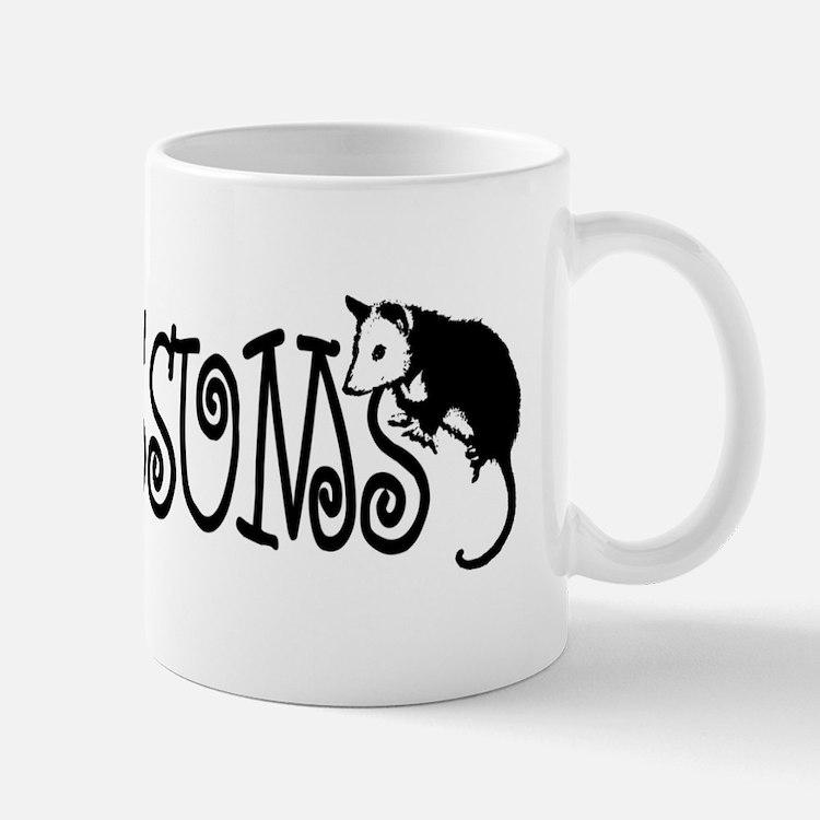I Love Hearts Possums Small Mugs
