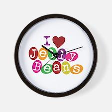 I Love Jellybeans Wall Clock