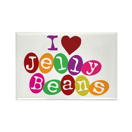 I Love Jellybeans Rectangle Magnet (10 pack)