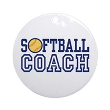 Softball Coach Ornament (Round)