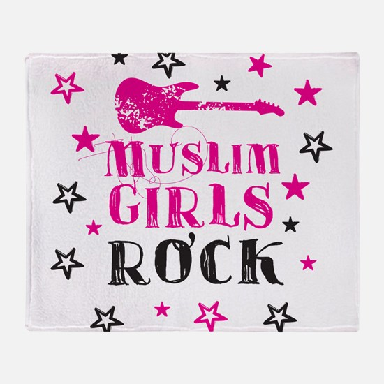 Muslim Girls Rock Throw Blanket