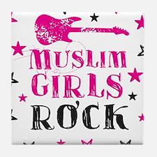 Muslim Girls Rock Tile Coaster