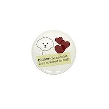 Cute Bichon Mini Button (10 pack)