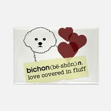 Funny Bichon Rectangle Magnet (100 pack)