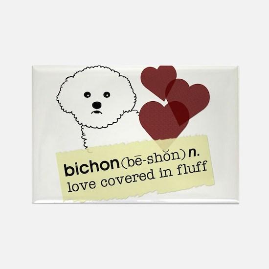 Unique Bichon Rectangle Magnet (10 pack)