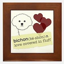 Funny Bichon frise Framed Tile