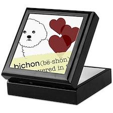 Cute Bichon frise Keepsake Box