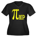 Pi mp Women's Plus Size V-Neck Dark T-Shirt