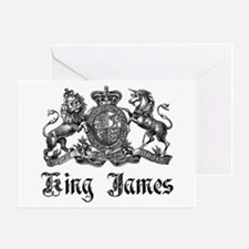 King James Vintage Crest Family Name Greeting Card